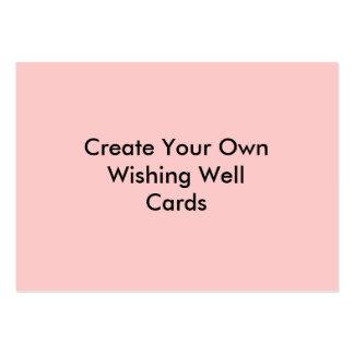 Cree su propio rosa bien de las tarjetas que desea tarjetas de visita grandes