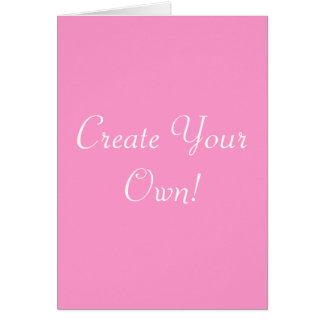 Cree su propio rosa y blanco tarjeton
