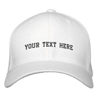 Cree sus los propios gorra bordada