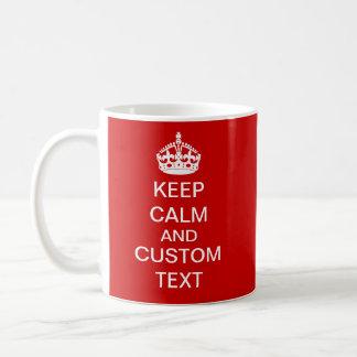 Cree sus los propios guardan calma y continúan taza de café