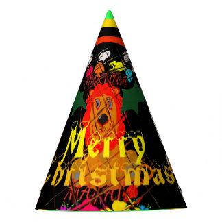 Cree sus propias Felices Navidad coloridas Gorro De Fiesta