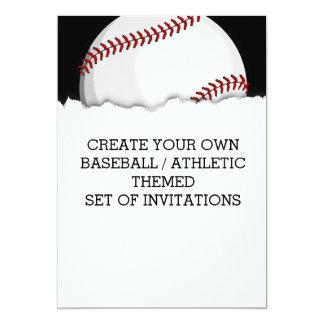 Cree una invitación temática del béisbol