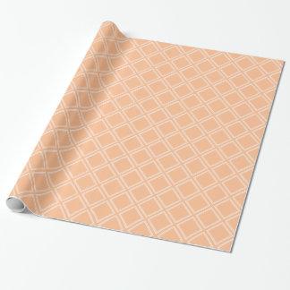 Crema anaranjada de moda y modelo blanco del papel de regalo