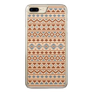 Crema azteca del azul del moho del modelo II de la Funda Para iPhone 8 Plus/7 Plus De Carved