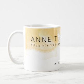 crema de la acuarela y profesional blanco taza de café