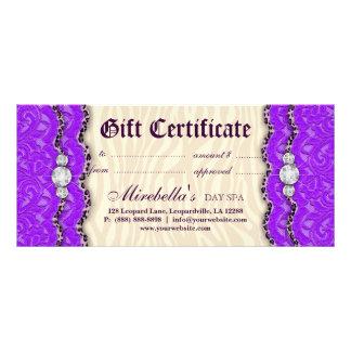 Crema de la púrpura del cordón del leopardo del va tarjetas publicitarias personalizadas
