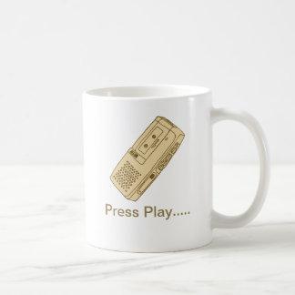 Crema de la taza del magnetófono