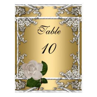 Crema elegante del oro del boda de la tarjeta del  tarjeta postal