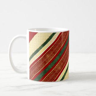 Crema roja verde del oro de la taza de café de la