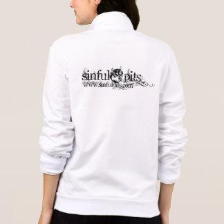 Cremallera-para arriba de las señoras camisetas