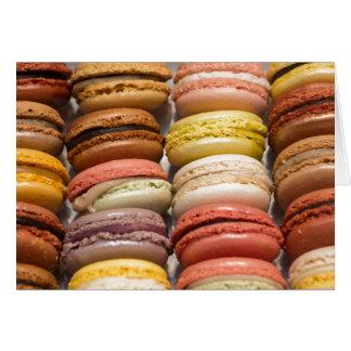 Crème llenó las galletas tarjeta de felicitación