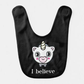 Creo el babero del bebé de Emoji del unicornio