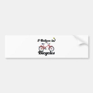 creo en bicicletas pegatina de parachoque
