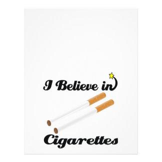 creo en cigarrillos flyer personalizado