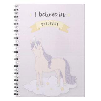 Creo en cuaderno de los unicornios