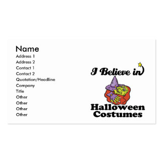creo en disfraces de Halloween Plantillas De Tarjetas Personales