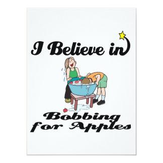 creo en el meneo para las manzanas invitación 16,5 x 22,2 cm