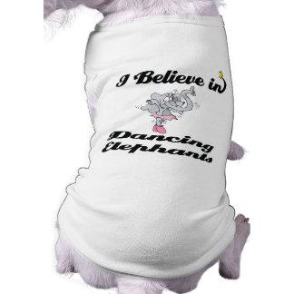 creo en elefantes del baile camiseta sin mangas para perro