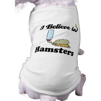 creo en hámsteres camiseta sin mangas para perro