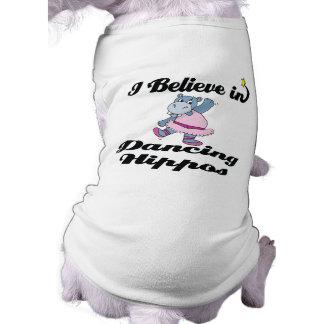 creo en hipopótamos del baile camiseta sin mangas para perro
