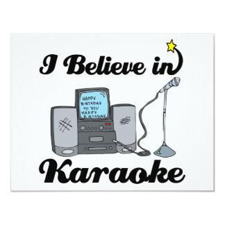 creo en Karaoke Invitación 10,8 X 13,9 Cm