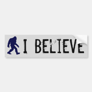 Creo en la pegatina para el parachoques de Bigfoot Pegatina Para Coche
