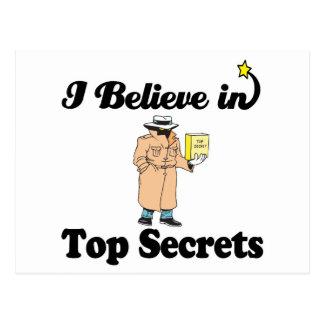 creo en máximos secretos tarjetas postales