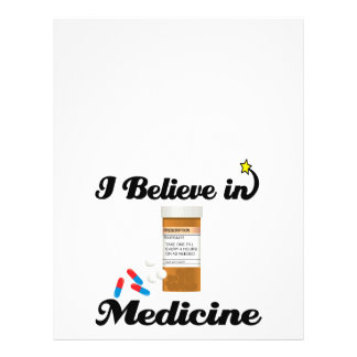 creo en medicina tarjetas informativas