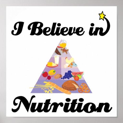 creo en nutrición poster