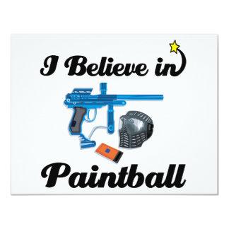 creo en Paintball Invitacion Personalizada