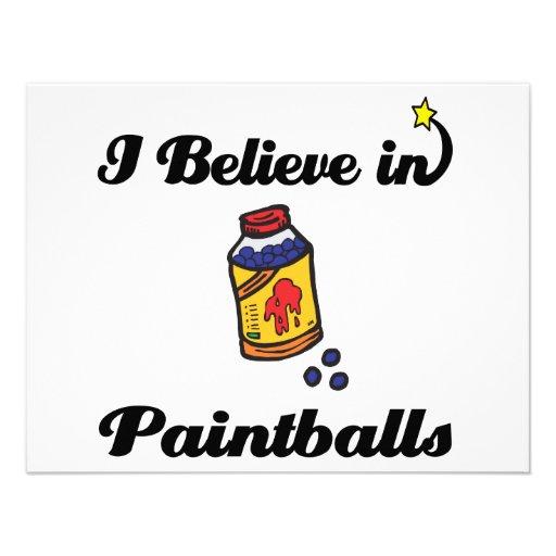 creo en paintballs invitación