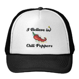 creo en pimientas de chile gorros
