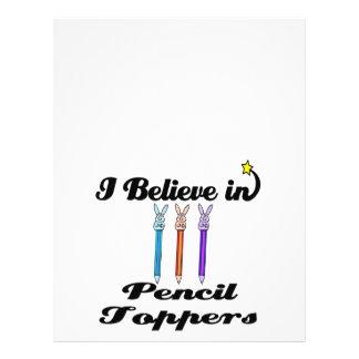 creo en primeros del lápiz flyer a todo color