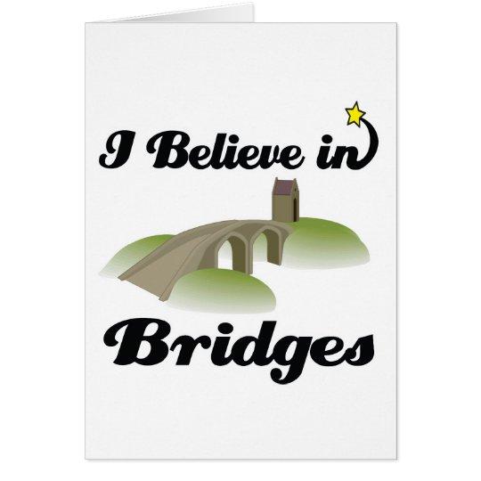 creo en puentes tarjeta de felicitación