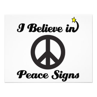 creo en signos de la paz invitacion personalizada