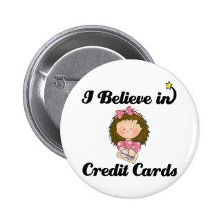 creo en tarjetas de crédito chapa redonda de 5 cm