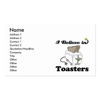 creo en tostadoras tarjetas de visita