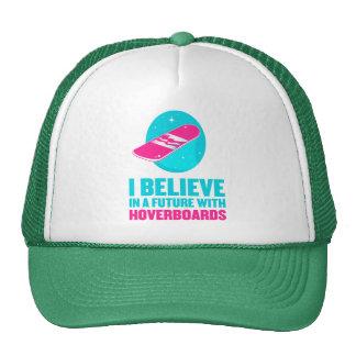 Creo en un futuro con hoverboards gorros bordados