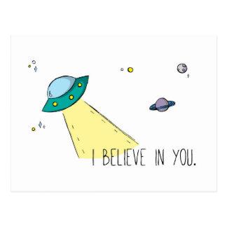 """""""Creo en usted"""" la postal (arte por Em Somerville)"""