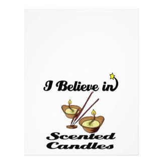 creo en velas perfumadas folleto 21,6 x 28 cm