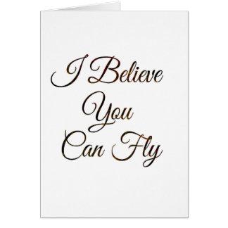 Creo que usted puede volar la postal tarjeta de felicitación