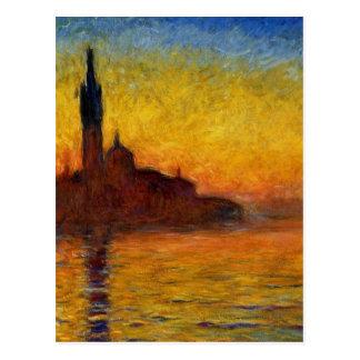 Crepúsculo de Claude Monet //Venecia Postal