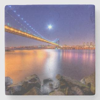 Crepúsculo, George Washington BridgePalisades, NJ. Posavasos De Piedra