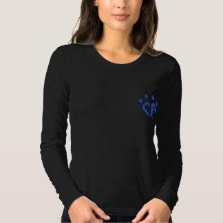 crewneck largo negro de la manga del Ca Camisas