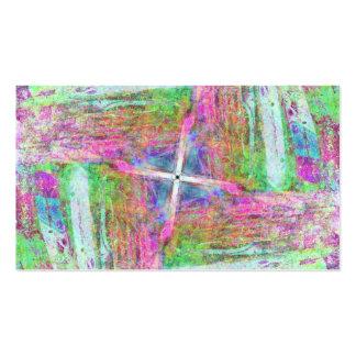 Creyón en colores pastel tarjeta de negocio