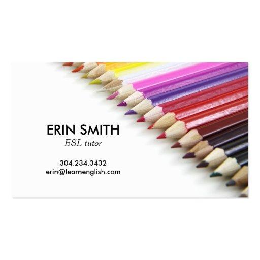 Creyones modernos del lápiz de no. el 66% el pipe% tarjeta de visita