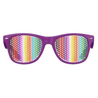 Creyones multicolores del lápiz del color gafas de fiesta