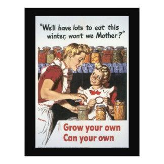 Crezca su guerra mundial de la comida 2 folleto 21,6 x 28 cm
