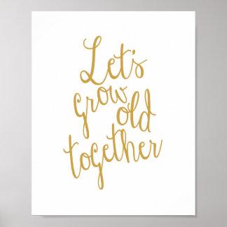Crezcamos viejos junto aman la impresión