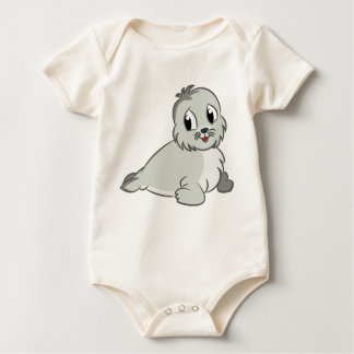 Cría de foca adorable del dibujo animado body para bebé
